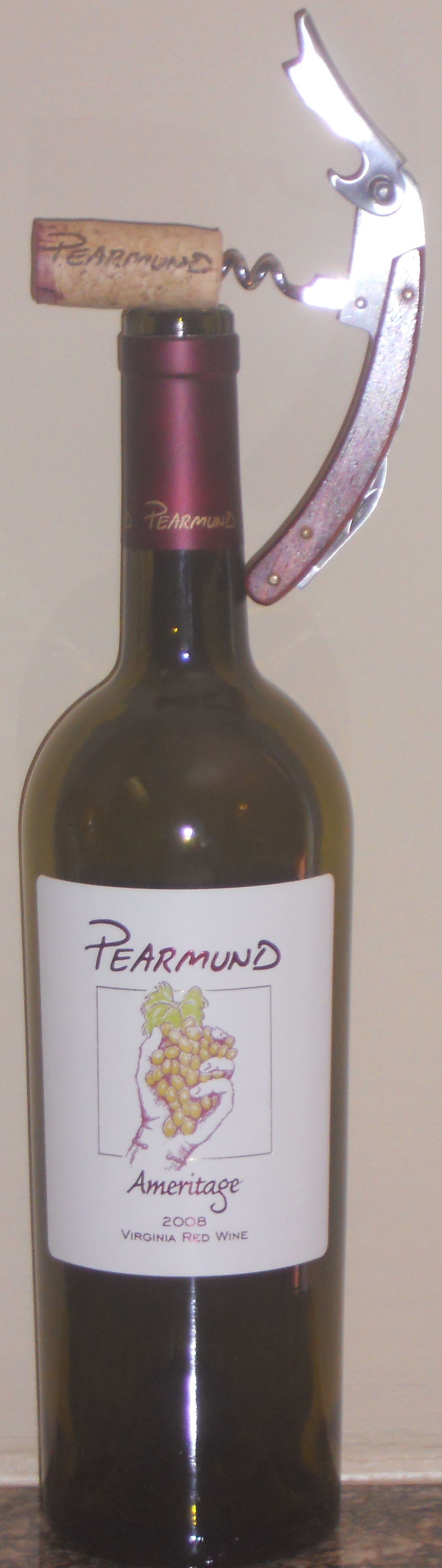 2008 Pearmund Cellars Ameritage, Broad Run, Virginia (Northern Region)