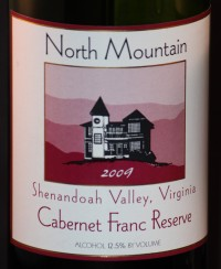 North Mountain Cabernet Franc 2009 Label