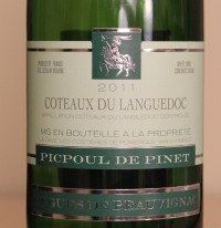 Picpoul de Pinet 2011 Label